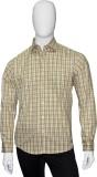 Cotton Natural Men's Checkered Formal Gr...