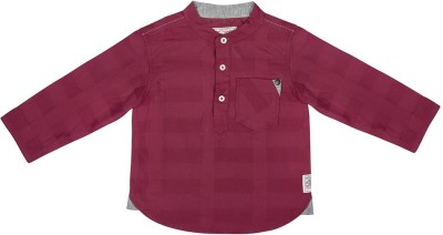 Wow Mom Baby Boy's Checkered Casual Red Shirt