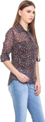 Desi Urban Women's Printed Casual Multicolor Shirt