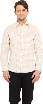Western Vivid Men's Printed Casual Beige Shirt