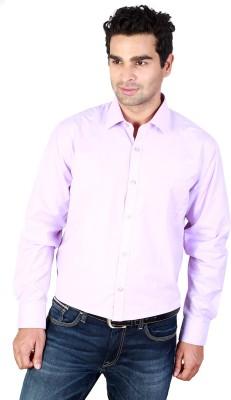 Scottish Men's Solid Formal Purple Shirt