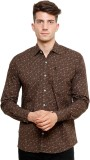 Ebry Men's Paisley Casual Brown Shirt