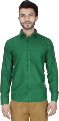 RVC FASHION Men's Solid Casual Green Shirt