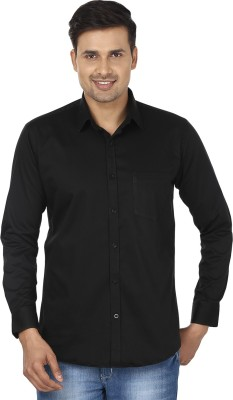 Edinwolf Men's Solid Casual Black Shirt