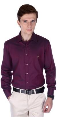 FRANK JEFFERSON Men's Solid Formal Red Shirt