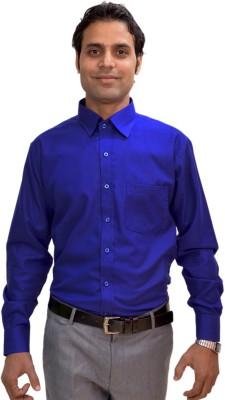 AVS Polo Men's Solid Formal Dark Blue Shirt