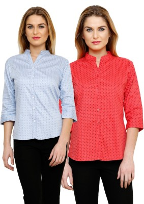 Ritzzy Women's Solid Casual Multicolor Shirt
