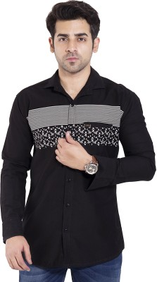 LIME TIME Men's Printed Casual Multicolor Shirt