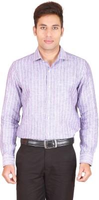 Willmohr Men's Striped Formal Linen Multicolor Shirt