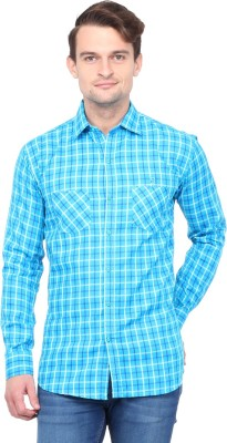 Brice Men's Checkered Casual Blue Shirt