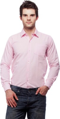 Fedrigo Men's Solid Casual Pink Shirt