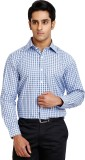 Zenrio Men's Striped Casual Blue Shirt