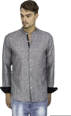 Mayank Modi Men's Checkered Casual Grey Shirt