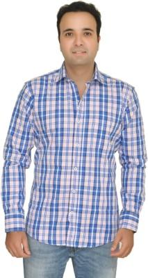 Kings Republic Men's Checkered Casual Pink, Blue Shirt