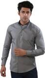 Just Differ Men's Solid Formal Grey Shir...