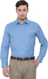 I-Voc Men's Solid Formal Blue Shirt