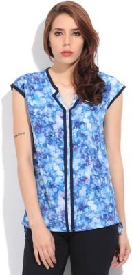 Lee Women's Printed Formal Blue, Purple Shirt at flipkart