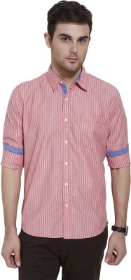 Urban Nomad By INMARK Men's Striped Casual Red, White Shirt