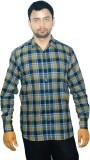 Alpha Shirt Men's Checkered Casual Multi...