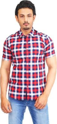 Success Men's Striped Casual Linen Red Shirt