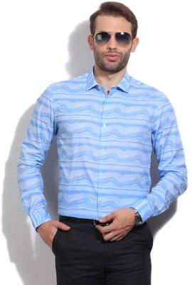 Arrow Newyork Men's Printed Casual Blue Shirt