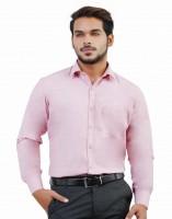 Lamode Formal Shirts (Men's) - LaMode Men's Solid Formal Orange Shirt