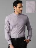 Invictus Men's Self Design Formal Purple...