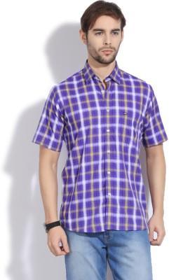Arrow Sport Men's Checkered Casual Purple Shirt
