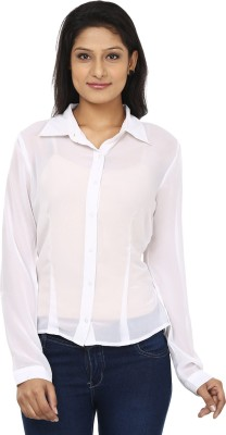 Today Fashion Women's Solid Casual White Shirt