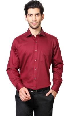 Van Heusen Men's Geometric Print Formal Red Shirt