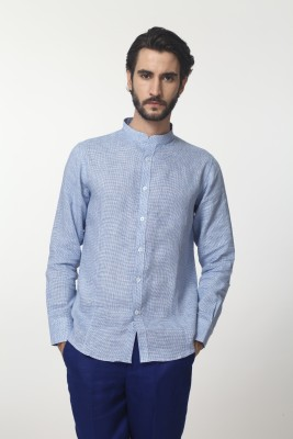 Yell Men's Solid Formal, Casual, Festive Blue Shirt
