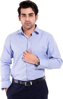 Mild Kleren Men's Solid Formal Light Blue Shirt