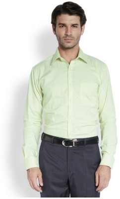 Park Avenue Men,s Solid Formal Light Green Shirt