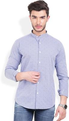 Urban Attire Men's Self Design Casual White Shirt