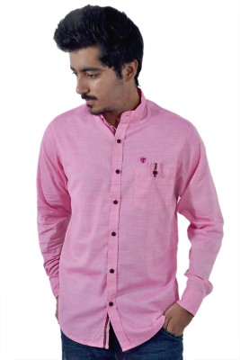Tenor Men's Solid Casual Pink Shirt
