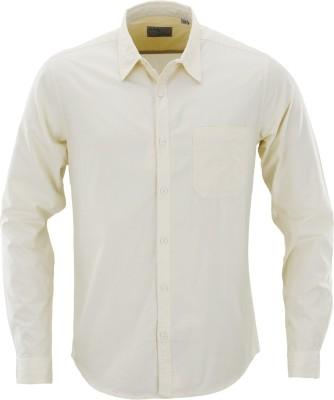 Aady Jones Men,s Solid Formal Yellow Shirt