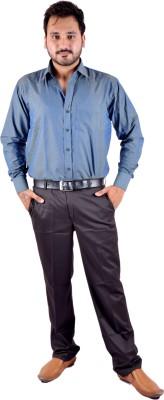 Shahanshah Enterprises Men's Polka Print Casual Dark Blue Shirt