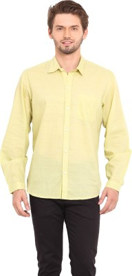 Ekmatra Men's Solid Casual Yellow Shirt
