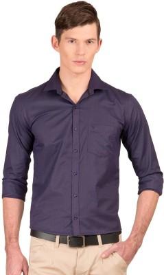 Taurus Men's Solid Casual Blue Shirt