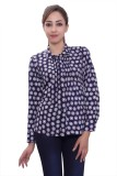 Tinge of Colors Women's Polka Print Form...