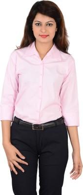 LGC Women's Solid Formal Pink Shirt