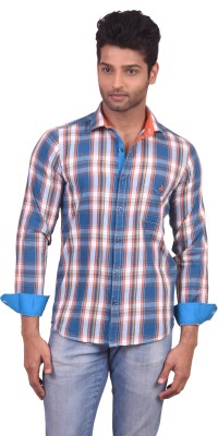 V Seven Men's Checkered Casual Multicolor Shirt
