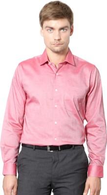 University of Oxford Men's Solid Formal Pink Shirt