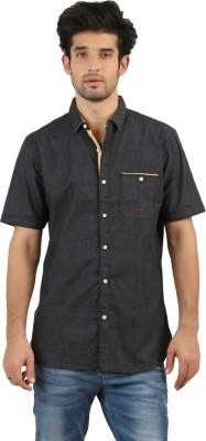 DESPERADO Men's Solid Casual Grey Shirt