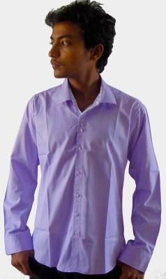 Silvercuffs Men's Solid Casual Purple Shirt