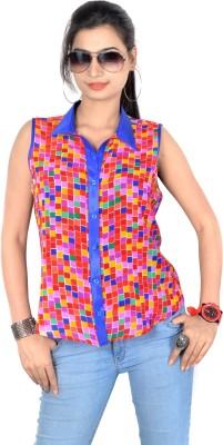 Vivaa Women's Checkered Casual Multicolor Shirt