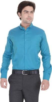 Janus Men's Solid Casual Blue Shirt