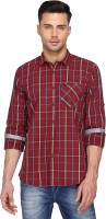 Vettorio Fratini By Shoppers Stop Formal Shirts (Men's) - Vettorio Fratini by Shoppers Stop Men's Checkered Formal Red Shirt