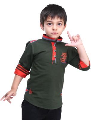 BAD BOY Boy's Solid Casual Green Shirt