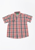 Palm Tree Boys Checkered Casual Red Shir...